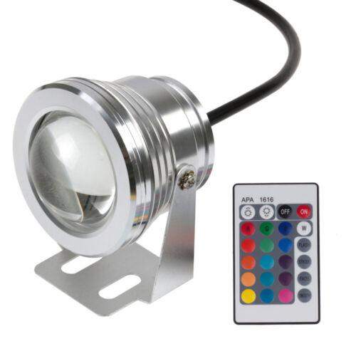 10W 12V LED RGB Unterwasserstrahler Strahler Fluter Lampe Außen Flut Licht IP68