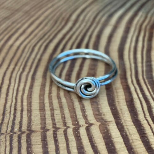 Mini Rosebud Ring Silver Gold Rose Gold Plate Antiqued Handmade Wire Wrap