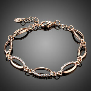 Elegant-Fashion-Clear-White-Austria-Crystal-Rhinestone-Rose-Gold-Plated-Bracelet