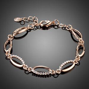 Elegant-Fashion-Clear-White-Austria-Crystal-Rhinestone-Rose-Gold-Plated-Bracelet