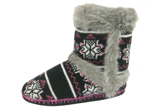 Coolers Ladies Booties Slippers Black   FREE SHIPPING BRAND NEW