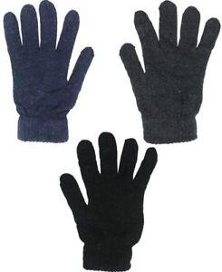 Winter Glove Black Wool Blend Liner Cold Weather Military Blank Gloves UNISEX