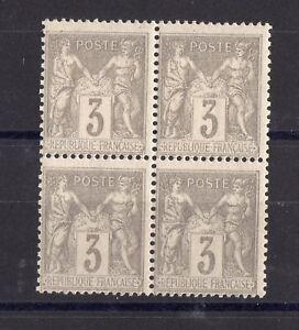 Francia-Blocco-4-Francobolli-Tipo-Sage-Ytn-87-Nuovo
