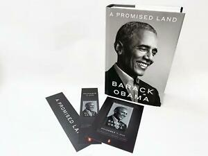 A-Promised-Land-by-Barack-Obama-1st-Edition-with-Official-Bookmark-amp-Postcard