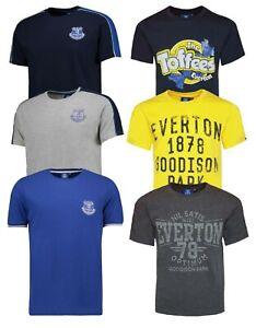 Everton FC Official Football Gift Boys Kids Crest T-Shirt