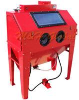 Hd Industrial Air Sand Blaster Cabinet Sandblaster Tank Blasting 110 Gallon
