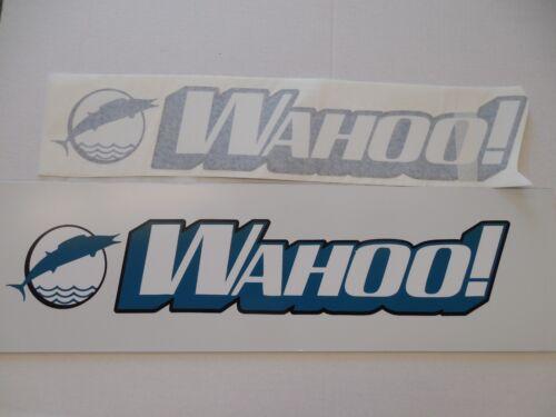 "Brand New Pair Wahoo  Boat Marine Decals 24/"" x 4 1//2/"" Air Release Vinyl Teal"