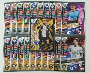2020-UEFA-Champions-League-Soccer-Cards-Match-Attax-101-Lot-of-20-cards