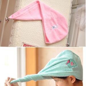 Microfibre-Hair-Drying-Towel-Wrap-Turbie-turban-head-Hat-Bun-Cap-Microfiber-MT