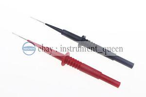 2pcs Multimètre Isolation Piercing Aiguille Test Sondes pour 4mm Banana