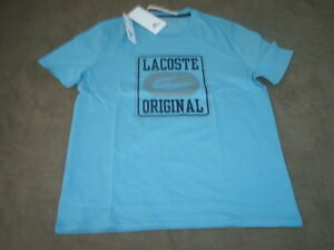 LACOSTE-BLUE-T-SHIRT-SIZE-4-SMALL