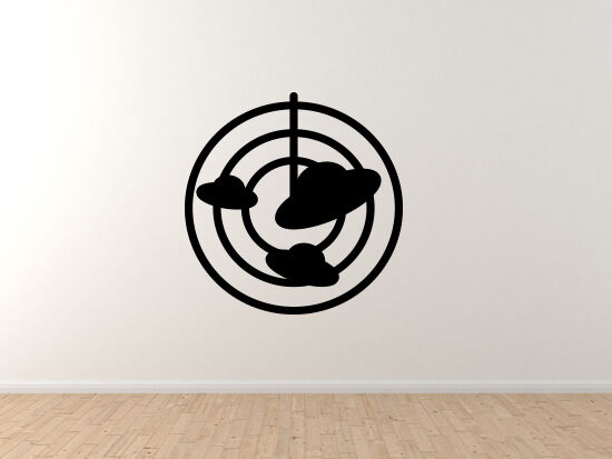 Space Icon- UFO Radar ships Toon Extraterrestrial - Vinyl Wall Decal