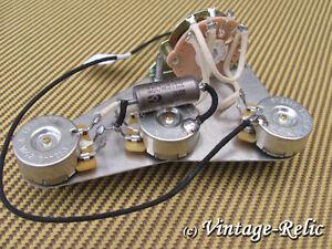 upgrade wiring kit pre wired fits fender stratocaster k40y 9 pio cap cts pots ebay. Black Bedroom Furniture Sets. Home Design Ideas