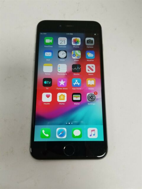 Apple iPhone 6 Plus 64GB Space Gray A1522 (Unlocked) Damaged See Details VD9603