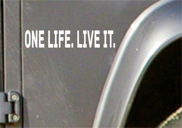 Small One Life Live It Stickers X 2 Land Rover 4x4 Off Road Sticker Decal