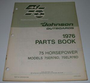 Parts-Book-Ersatzteilkatalog-Johnson-Outboards-75-HP-Model-75ER76D-75ELR76D-1976