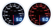 60mm Celsius Digital Oil temperature gauge White Red Universal WA6047LED-Cel