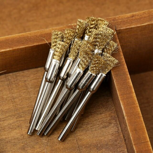 5mm Mini Brass Wire Brush Pencil Brushes 3mm Shank Die Grinder Rotary Tools