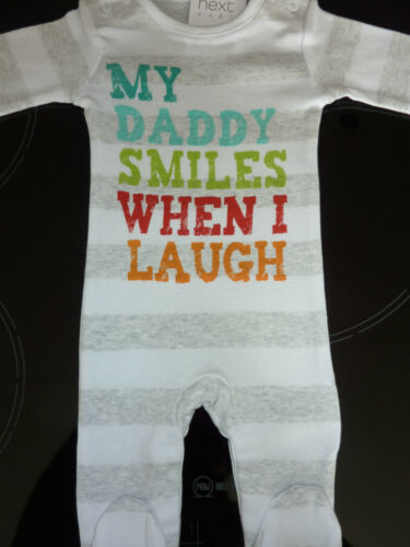 jusqu/'à 7.8lbs Suivant mon papa sourit quand je rire sleepsuit premier taille nwt