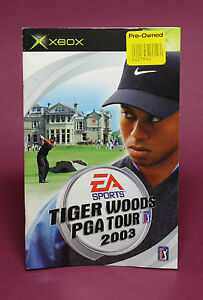 INSTRUCTION-BOOKLET-MANUAL-FOR-TIGER-WOODS-PGA-TOUR-2003-XBOX-NO-GAME