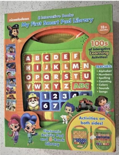 Nickelodeon My First Smart Pad Computer Paw Patrol With Library NIB 3yr+