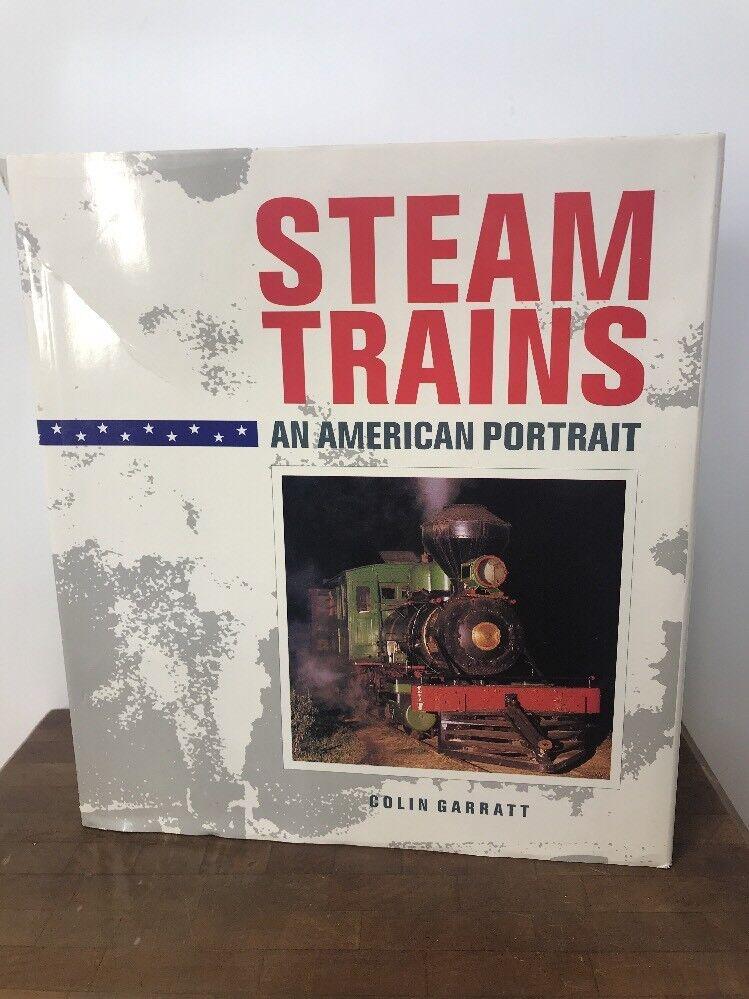 STEAM TRAINS Colin Garratt 1989 First Edition Model Book American Portrait RAre