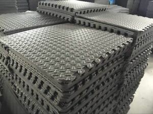 Large Black Caravan Awning Floor Mat Foam Garden Mats ...