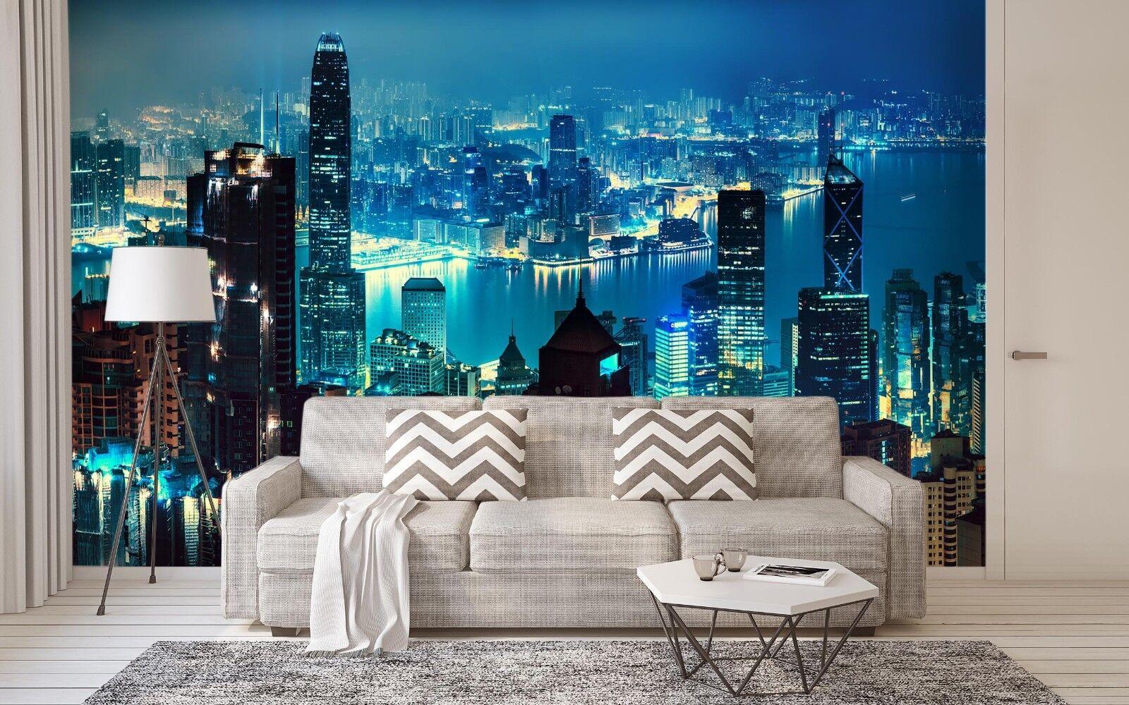 3D Night City 7014 Wall Paper Print Wall Decal Deco Indoor Wall Murals US Summer
