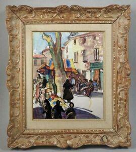 Decouverte-d-039-une-grande-painter-painting-beautiful-village-scene-60