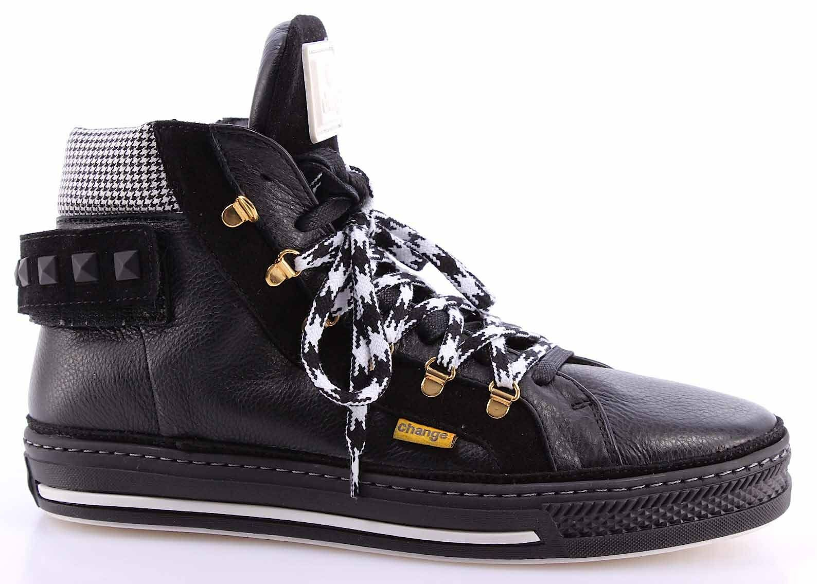 femmes  High Top Sneakers CHANGE! BsunW Miro Nero Velour Nero Leather  noir  IT