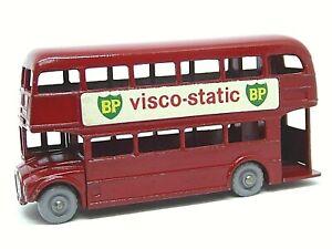 Matchbox-Lesney-No-5c-AEC-London-Routemaster-Bus-Gris-ruedas-de-plastico