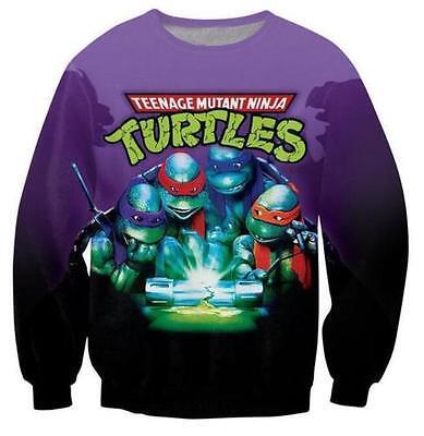 New Womens/Mens Teenage Mutant Ninja Turtles Funny 3D Print Sweatshirts M-41
