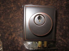 Emtek assa abloy sing. cyl. deadbolt 8468 oil rubbed bronze