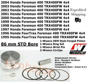 86mm TRX 400 MADE IN JAPAN HONDA 95-04 TRX400FW Foreman 4x4 Piston Kit STD