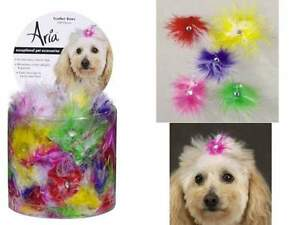 Feather Dog Puppy Grooming Bow Aria Canister Of 100 Bows 5