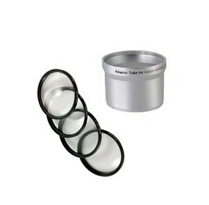 MACRO CLOSE UP Lens 4 Filter Kit +Tube for Canon Powershot A510 A520 A540 bundle