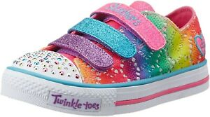 Twinkle-Toes-Skechers-Rainbow-FOLLIA-Light-Up-Scarpe-da-ginnastica-UK12-5-EU31-NUOVO-CON-SCATOLA