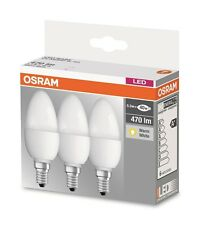 3er-PACK (3 Stk.) OSRAM LED BASE Classic B40 E14 2700K A+ wie 40W Kerzenlampe