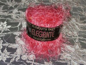 NEW-PLYMOUTH-YARN-ELEGANTE-Pink-Eyelash-Yarn-50-g-Nylon-Made-in-Italy-24-301