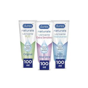 Durex Lubricantes Naturals H2O, Extra Sensitivo y Extra Lubricado - 3x100ml