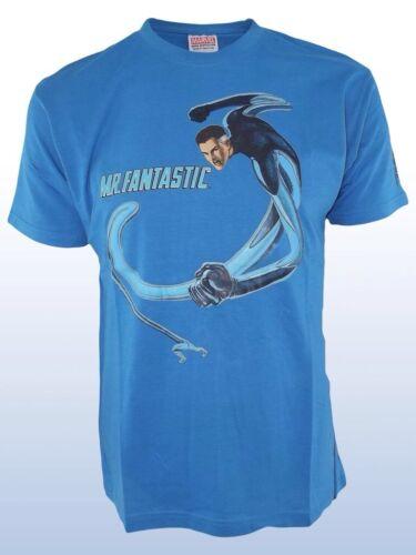 T-Shirt Supereroi Maglietta Uomo Marvel Mr Fantastic Originale H/&W C109 Tg L