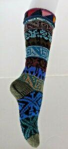 UNISEX-ALPACA-amp-MIXED-FIBERS-LONG-SOCKS-FROM-PERU-MULTI-COLOUR-Soft-amp-Warm