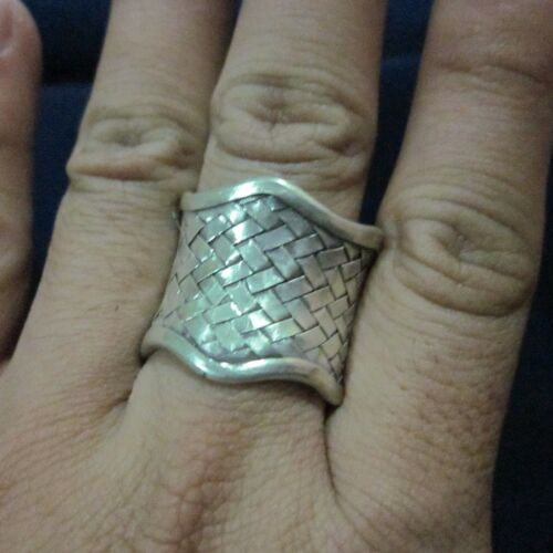 Fine Silver Rings Karen HILL TRIBE Ethnic Anello Argento Classic Wave Weave