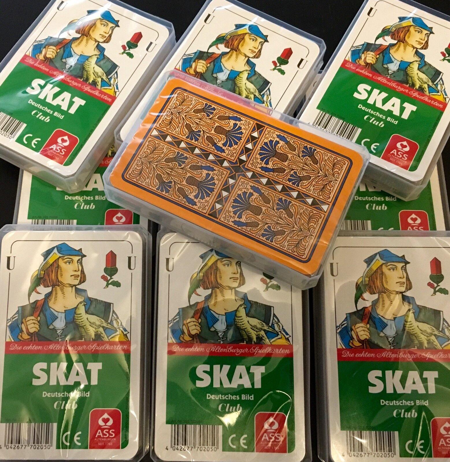 Fünfzigerpack SKAT Deutsches Bild ASS Club Spielkarten Skatkarten 32 Blatt Q