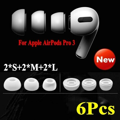 Replacement Silicone Ear Tips Buds Accessories for Apple AirPods Pro 3 Earbuds *