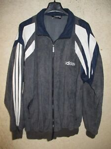 Détails sur Veste ADIDAS vintage style CHALLENGER tracktop jacket gris années 80 90 162 XS