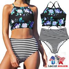 0d4b2d3cb0ab8 item 5 Women's Crop Top High Waisted Bikini Set Push-up Swimwear Swimsuit  Bathing Suit -Women's Crop Top High Waisted Bikini Set Push-up Swimwear  Swimsuit ...