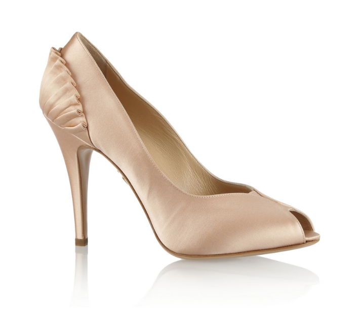 Charlotte Olympia bluesh Pavletta Satin Pumps And Stockings Sz 39.5 EUR 7408