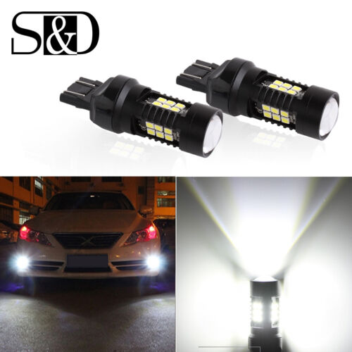 1200LM 7443 7440 21SMD T20 W21//5W Car LED Reverse Brake Turn Tail DRL Light Bulb