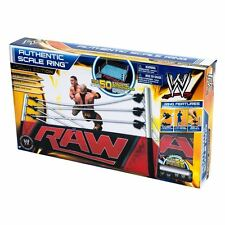 WWE MATTEL AUTHENTIC REAL SCALE MONDAY NIGHT RAW WRESTLING RING ELITE OFFICIAL